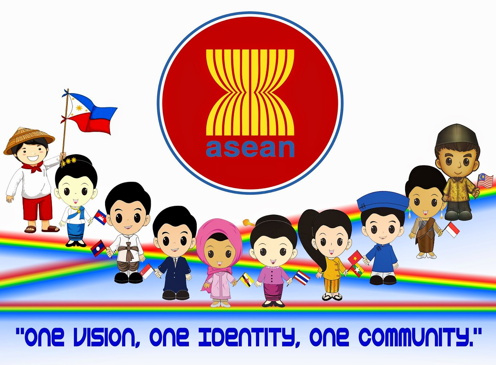ASEAN logo One community