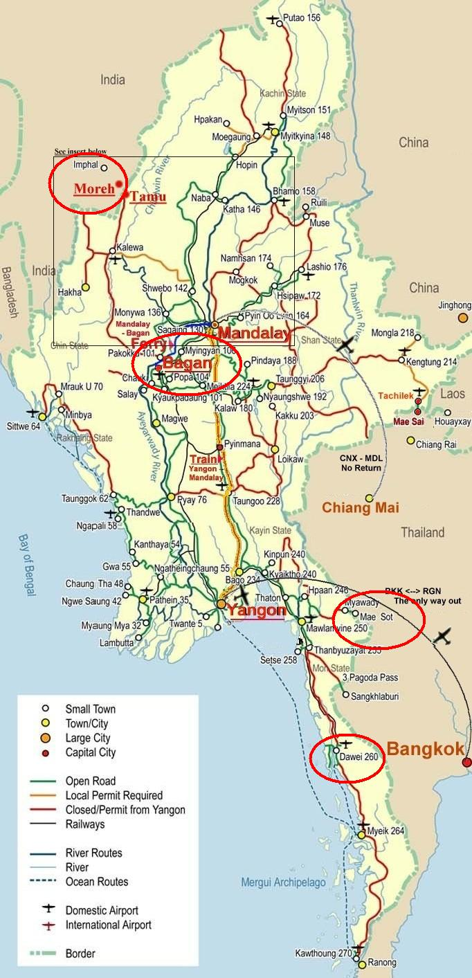 IndiaASEAN Links Grow Myanmar A New Bridge Bangkok A New Hub – Myanmar Tourist Map