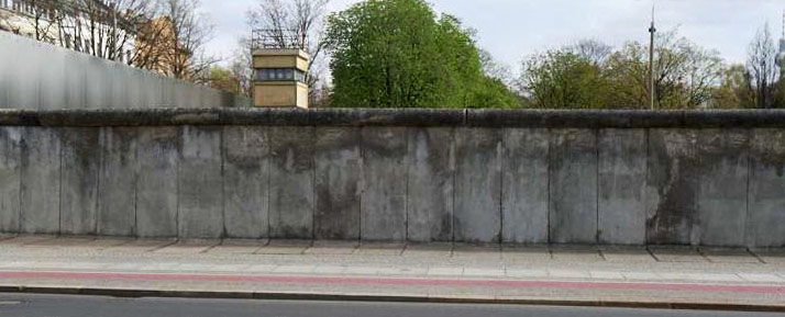 The former Berlin Wall. Picture source: Berlin Wall Memorial website