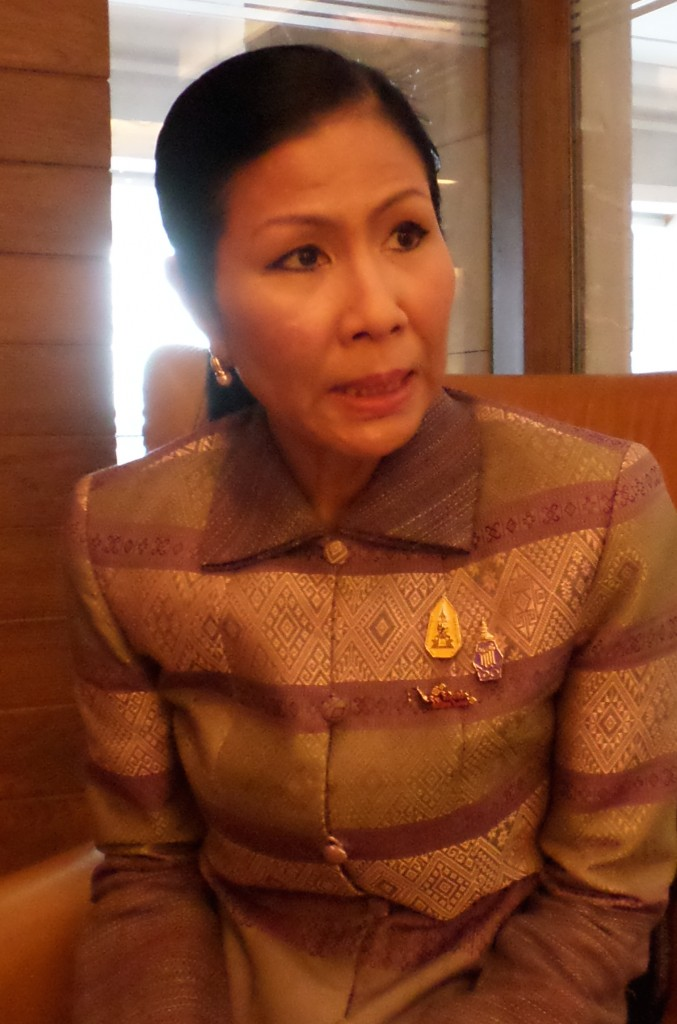 Thailand's Minister of Tourism and Sports Mrs Kobkarn Wattanavrangkul