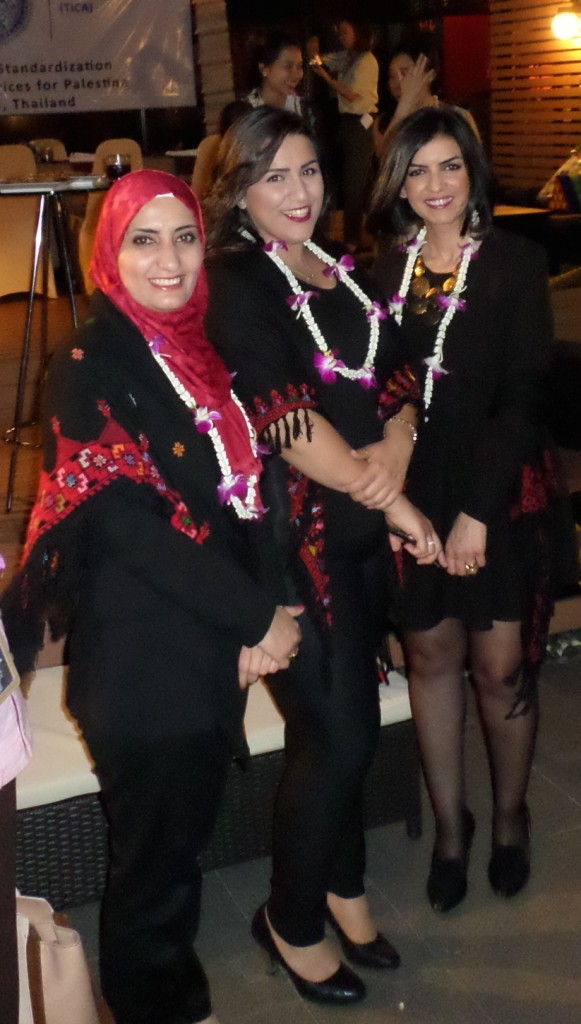 Mrs Azza Abughaddib, Head of Legislation Department, Ms Rawan Qumsieh, Arab Hotel Association, Project Director; and Mrs Rozalin Mikel,  The Holy Land Incoming Tour Operators Association, Director