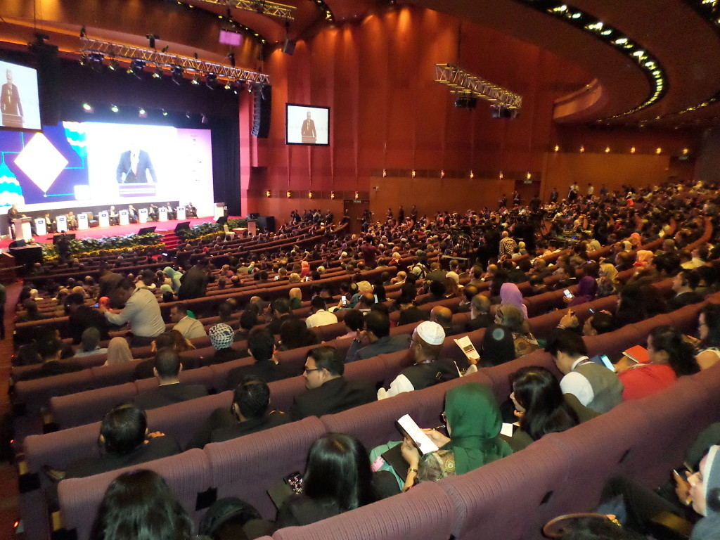 Packed auditorium at the opening ceremony of the 11th WIEF.