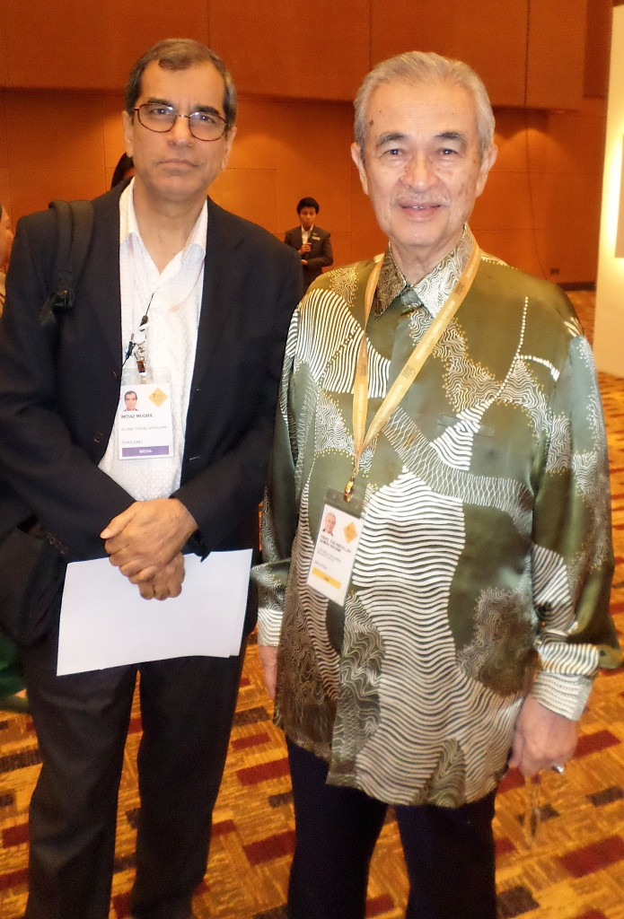 Travel Impact Newswire Executive Editor Imtiaz Muqbil with former Malaysian PM Abdulla Badawi.