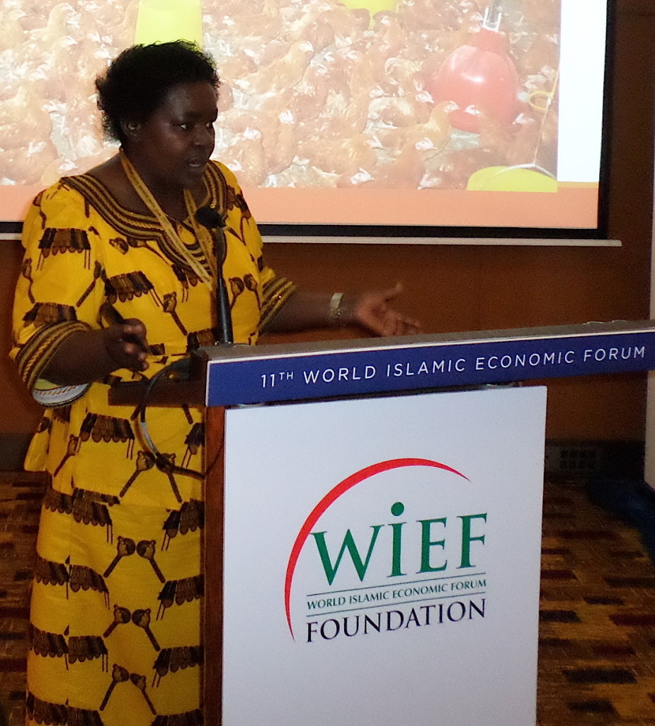 Dr Victoria Kisyombe addressing the WIEF Businesswomen's Network.