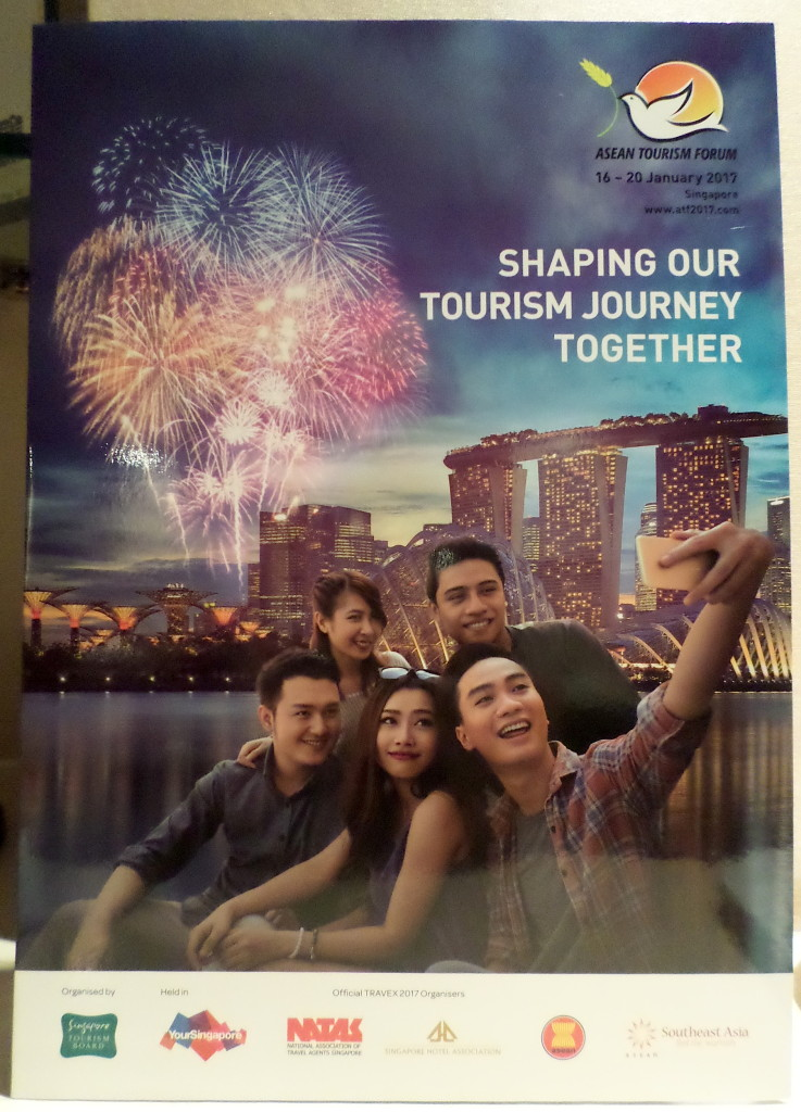 "Singapore has started the promotional pitch for the ATF 2017 with this publication that also uses both the ASEAN emblem and the ""Southeast Asia"" tag. A blow-up of that is in the picture below."