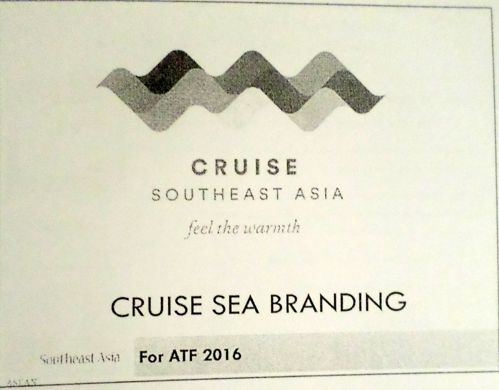 "A new cruise promotion strategy is suggesting the use of ""Southeast Asia"", not ASEAN. No ASEAN emblem in sight at the Powerpoint presentation made to the ASEAN NTOs."