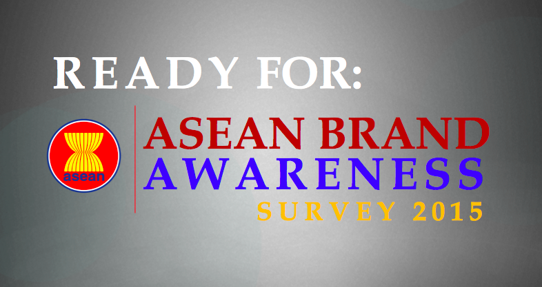 The front cover of the presentation on an ongoing ASEAN brand awareness survey also included the ASEAN logo, with no reference to Southeast Asia.