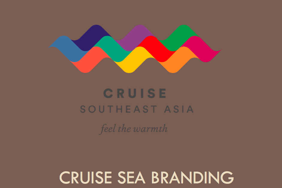 A new cruise branding strategy refers to Southeast Asia, with no ASEAN logo.