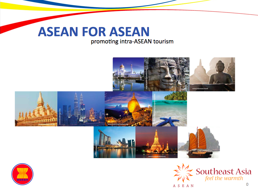 A new campaign is to be launched to promote intra-ASEAN travel. The name is ASEAN for ASEAN, but it also includes the Southeast Asia logo.
