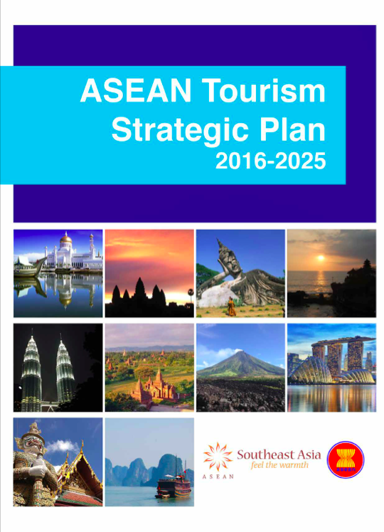 The front page of the ASEAN Tourism Strategic Plan includes both the ASEAN and Southeast Asia logos.