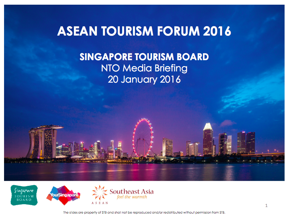 The Singapore briefing included the Southeast Asia logo, but no ASEAN logo.