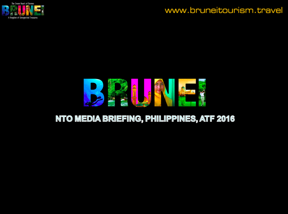 The Brunei briefing included none of the ASEAN logos.