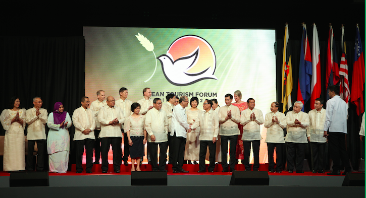 The backdrop at the opening ceremony, with President Benigno Aquino present, included only the ATF 2016 logo, no ASEAN nor Southeast Asia.