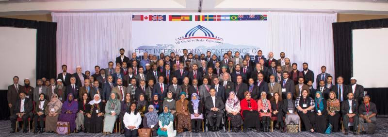 Participants at the 1st International Conference of Muslim Councils in the West.