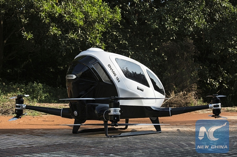 Chinese company @ehang to develop drones for emergency human organ delivery (Xinhua/file photo)