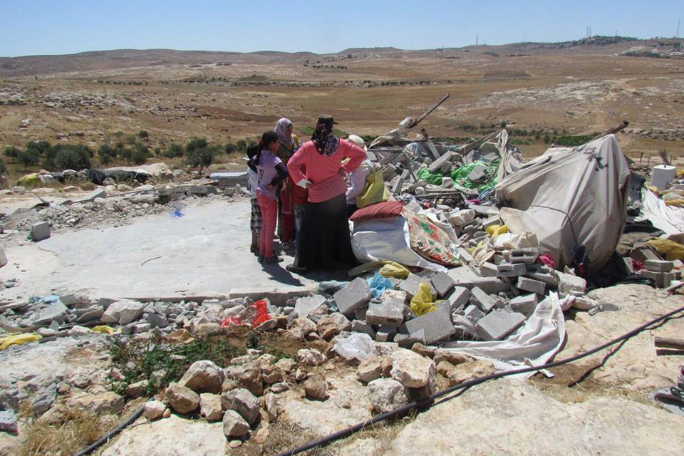 In late June 2016, 19 Palestinians, including 12 children, lost their homes when Israeli forces demolished 5 structures in Susiya, south of Hebron, in the occupied Palestinian territory. Photo: OCHA