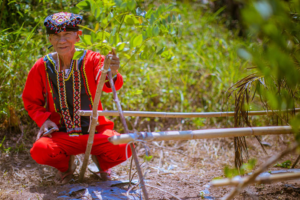 Datu Rico Pedecio, head of the Manobo Tribe in Leyte, Philippines. Following the devastation of typhoon Haiyan, the Manobo replanted valuable forest areas and gardens destroyed by the storms. Photo: FAO/Rommel Cabrera